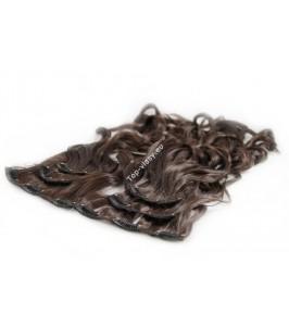 Středně Tmavě hnědé luxusní syntetické vlasy