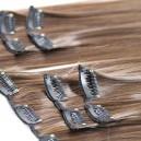 Středhně  čokoládově hnědé luxusní syntetické vlasy
