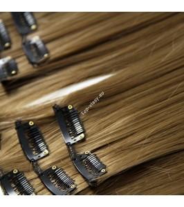 Nejsvětlejší hnědé luxusní syntetické vlasy