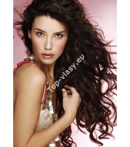 Jemně vlnité vlasové tresy 60cm 100% lidské Latino vlasy Remy
