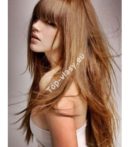 Vlasové prameny s keratinem 50/55cm / 100% lidské vlasy Remy AAA