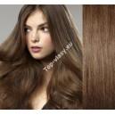 Středně hnědé clip in DeLuxe vlasy
