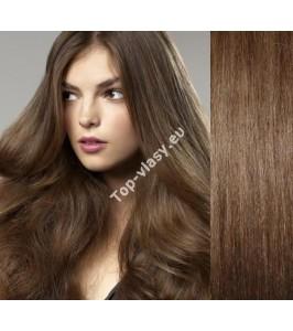 Clip in vlasy středně hnědé -  DeLuxe sady