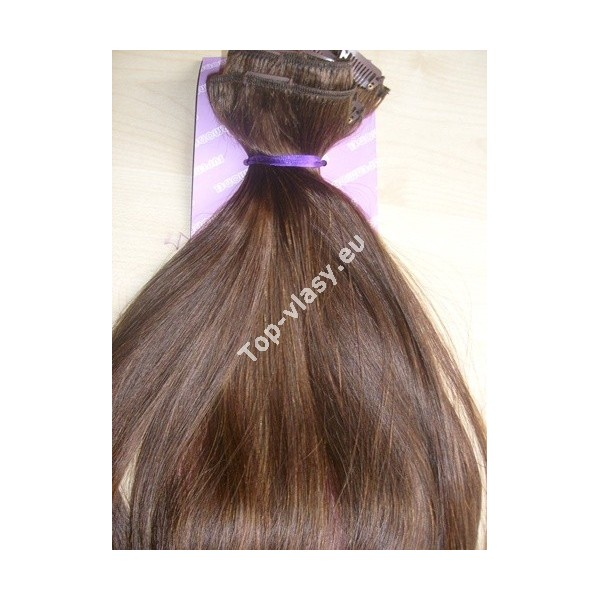 Clip in vlasy středně hnědé - DeLuxe sady - Topvlasy - Luxusní vlasy ... 3317a1aeca9