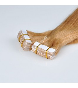 Tape  In vlasy 43/45 cm /Double Drawn! Salon Remy AAA / 100 gram