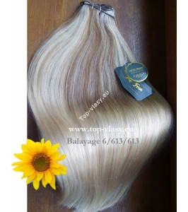 Clip In Ombré Maxi - 100% lidské vlasy - 53/55 cm / 180 gram!