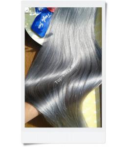 Šedé - stříbrné Clip In vlasy /Silver- Grey/ 40 cm -65 cm!