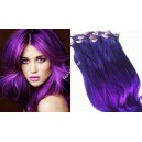 Fialové Purple - Clip in  Maxi sady 150 - 210 gram!