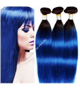 Modré - Blue Clip In Maxi sady 150 - 210 gram