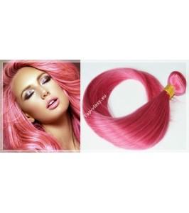 Růžové - Pink Clip In vlasy 90 - 130 gram
