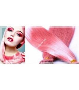 Růžové - Pink Clip In Maxi sady 150 - 210 gram