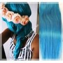 Tyrkysové - Modré Clip In vlasy 90 - 130 gram