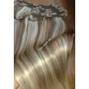 Clip in vlasy - Melírované 14/22 Deluxe XXL sady