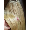 Clip in vlasy - zlatý mix blond 22/613 DeLuxe XXL sady
