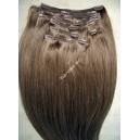 Clip in vlasy - Světle hnědé  DeLuxe XXL sady