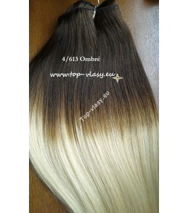 Ombré Vlasové pásy - tresy 50cm European Weaves