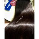 Tmavě hnědé clip in DeLuxe XXL vlasy
