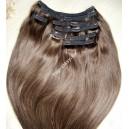 Clip in vlasy - Čokoládově hnědé DeLuxe XXLsady