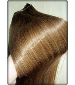 Clip in vlasy - Tmavě plavý blond 14  DeLuxe XXL sady