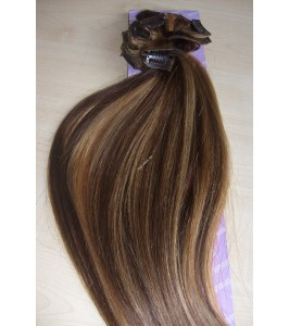 Clip in vlasy - Melírované 4/27 DeLuxe sady