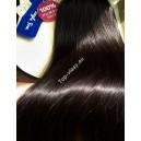 Tmavě hnědé Maxi Dvojité 2in1 vlasy