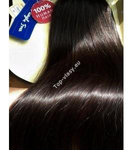 Clip In Tmavě hnědé Maxi Dvojité 2in1 vlasy