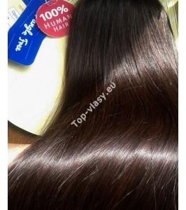 Clip In Středně hnědé Maxi Dvojité 2in1 vlasy