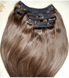 Clip in Čokoládově hnědé Maxi Dvojité 2in1 vlasy