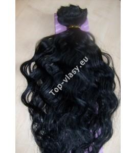 Černočerné clip in DeLuxe vlnité vlasy