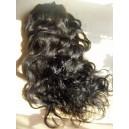 Přírodní černé clip in DeLuxe vlnité vlasy