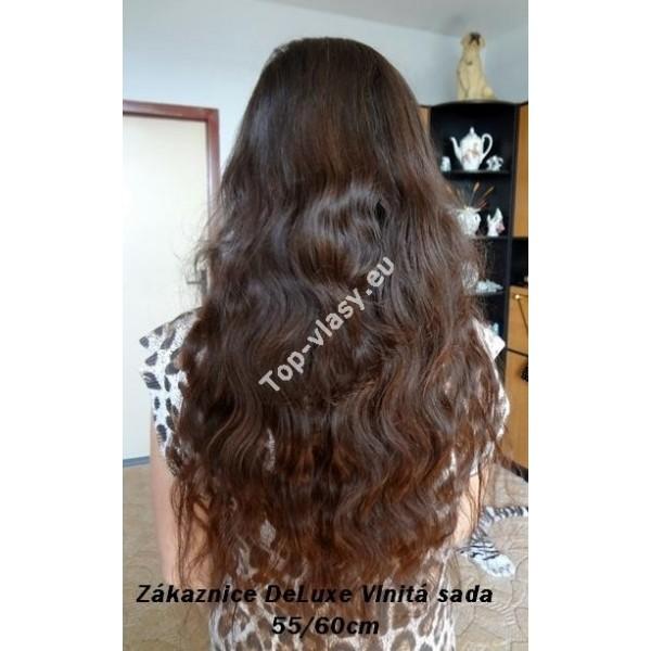 Tmavě hnědé clip in DeLuxe vlnité vlasy - Topvlasy - Luxusní vlasy k ... ec82a08acfa