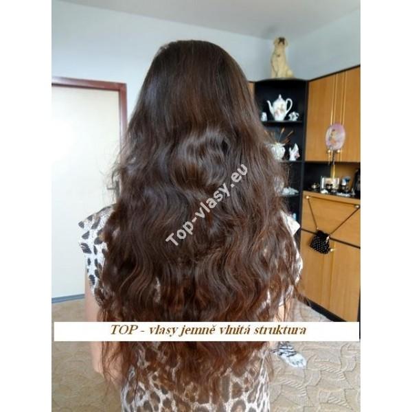 Středně hnědé clip in DeLuxe vlnité vlasy - Topvlasy - Luxusní vlasy ... ef181e837ff