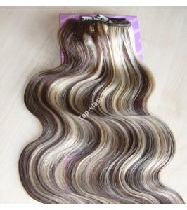 Melírované 4/613 clip in DeLuxe vlnité vlasy