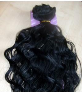 Černočerné clip in Dvojité vlnité vlasy