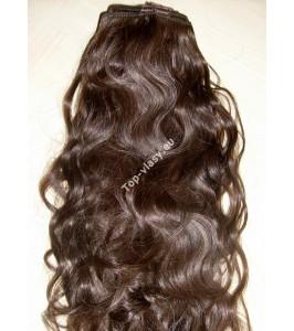 Středně hnědé clip in Dvojité vlnité vlasy