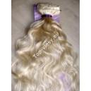 Světle blond 613 clip in Dvojité vlnité vlasy
