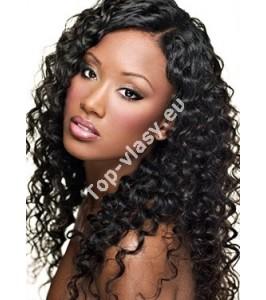 Černočerné clip in kudrnaté vlasy