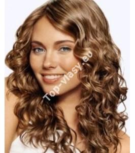 Světle hnědé 6 clip in kudrnaté vlasy