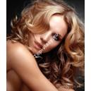 Jahodové blond clip in kudrnaté vlasy