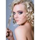 Nejsvětlejší blond 60 clip in kudrnaté vlasy