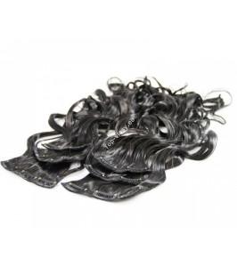 Přírodní černé luxusní syntetické vlasy