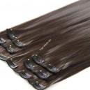 Nejtmavší hnědé Extra Volume syntetické vlasy